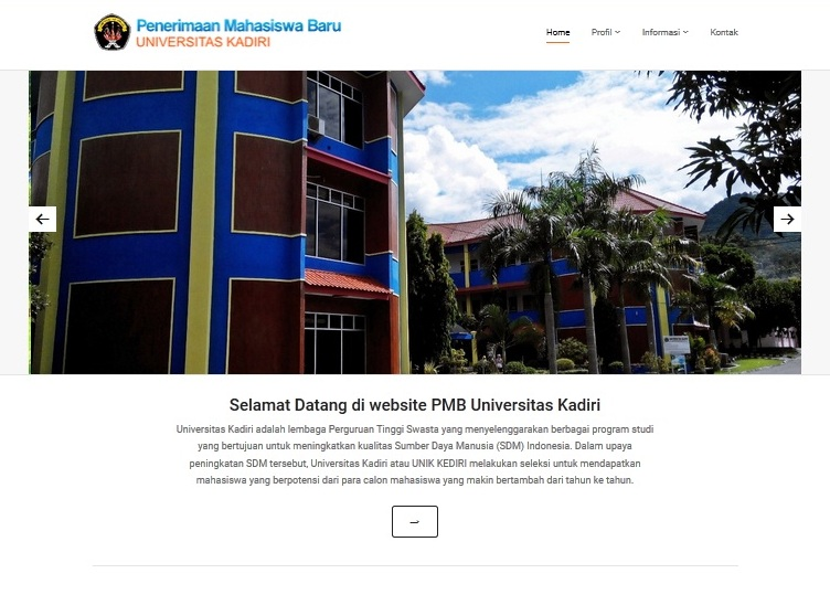 website PMB UNIK