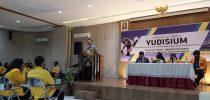 Ir. Djoko Rahardjo,MP selaku Rektor Universitas Kadiri memberikan sambutan dalam Yudisium Fakultas Teknik Universitas Kadiri pada Sabtyu, 03 Oktober 2020.