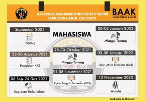 Kalender Akademik Mahasiswa semester ganjil 2021-2022