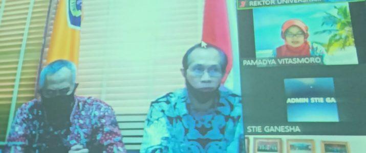 Ir. Djoko Rahardjo,MP bersama dengan para jajarannya dalam penandatanganan MoU dengan STIE GANESHA Jakarta